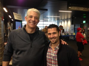 Event Organizer Keith Schulefand with Sabres Captain Brian Gionta